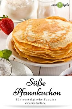 Sweet pancakes - easy and quick. Greek Diet, Pancake Healthy, Medicinal Herbs, Greek Recipes, Tortellini, Food Items, Cherry Tomatoes, A Food, Vegetarian