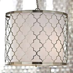 silver moroccan pattern barrel shade light