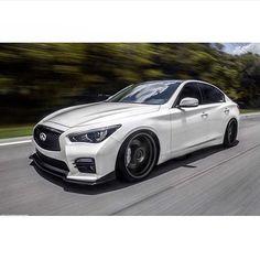 Infiniti Q50 Sport, Nissan Infiniti, Slammed Cars, Jdm Cars, Car Pictures, Car Pics, Custom Cars, Concept Cars, Luxury Cars