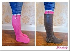boutique style boot socks tutorial
