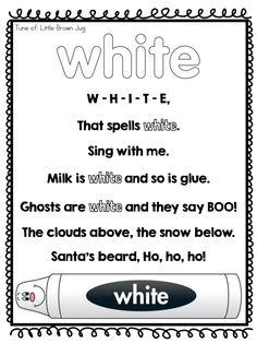 Page 10 of 12 Color Songs Preschool, Preschool Poems, Color Activities, Preschool Classroom, Preschool Activities, Preschool Learning, Teaching Kids, Beginning Of Kindergarten, Kindergarten Colors