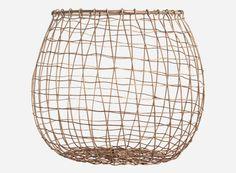 Ka3502 - Basket, Mesh, copper, dia.: 20/26/15 cm, h.: 24 cm