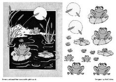 Mono Frogs on Craftsuprint - Add To Basket!