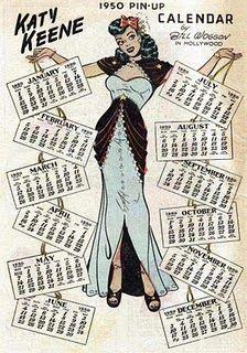 Katy Keene 1950 Pin Up Calendar - artist Bill Woggon