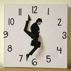Ministry of Silly Walks Wall Clock by Susanne Lindberg: In case you haven't seen it, here is the link for Monty Python's classic 'Ministry of Silly Walks' Sketch.  http://www.youtube.com/watch?feature=player_embedded=z2GOGAmrNy4