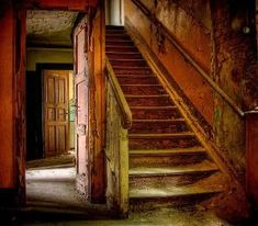 Beautiful decay in an abandoned house in Germany. Love the color and texture so much! by jon0608