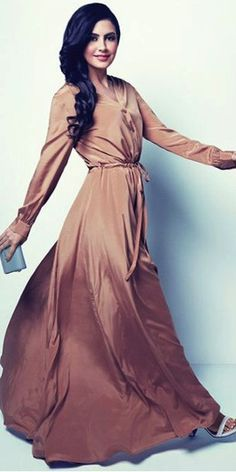 Beautiful Long sleeve maxi dresses from DKNY 2014 Ramadan Collection available to purchase only at Mode-sty