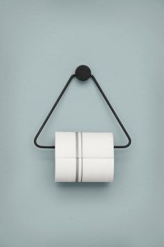 Toilet Paper Holder | Black | Geometric is in – and you can't go wrong with matte brass. Use this toilet paper holder for the every day toilet paper situation.