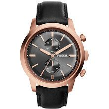 Shop for Fossil Men's 'Townsman' Chronograph Black Leather Watch. Get free delivery On EVERYTHING* Overstock - Your Online Watches Store! Fossil Watches For Men, Luxury Watches For Men, Men's Watches, Black Leather Watch, Leather Watch Bands, Gold And Black Dress, Black Gold, Rose Gold Watches, Bijoux