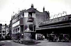 1952, Tram at Woolwich arsenal station
