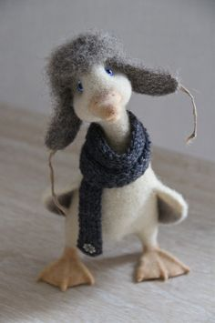 needle felted duck