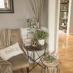 60 Makeable Designs Of Farmhouse Side Table You Must See Living Room