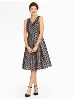 Sparkle Daisy-Jaquard Dress