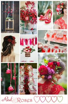 inspiration board in red  http://www.weddingtherapy.it/inspiration-board-red-roses/