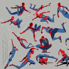 Some glorified Spider-Man gesture drawings. I havent done gestures like t - - Ideas of - Some glorified Spider-Man gesture drawings. I havent done gestures like this in a while. Insomniac did an incredible job with this game. Spiderman Poses, Spiderman Kunst, Spiderman Drawing, Amazing Spiderman, Marvel Art, Marvel Comics, Marvel Avengers, Action Poses, Spider Verse