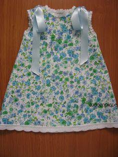 TODO EN PIQUE para bebé: Estampados Kids Outfits Girls, Girl Outfits, Girls Dresses, Summer Dresses, Puppet Patterns, Baby Dress Design, Dress With Bow, Kids Wear, Boy Fashion