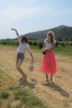 Alexa and Poppy--love Poppy's pink skirt.
