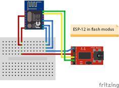 Esp8266 Esp 12 Module Aansluiten In Flash Modus Via Usb Stick Png