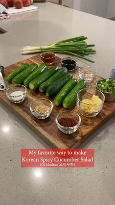 Veggie Dishes, Veggie Recipes, Asian Recipes, Vegetarian Recipes, Cooking Recipes, Healthy Recipes, Old Recipes, Pizza Recipes, Spicy Cucumber Salad