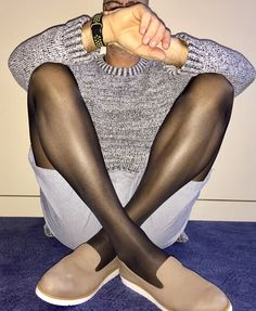 Sheer pantyhose on guys look amazing. Stockings Legs, Nylon Stockings, Tights Outfit, Leggings Fashion, Sexy Outfits, Cute Outfits, Support Tights, Brown Tights, Men In Heels