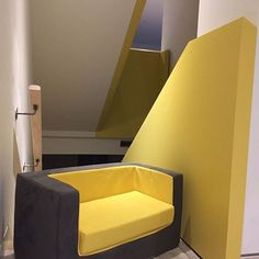 A perfect match with our Cubino Loveseat. Modern Childrens Furniture, Sofa, Couch, Perfect Match, Love Seat, Modern Design, Chair, Yellow, Canada