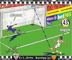 Athletic Club, 0 - Valencia CF, 1 , Ever Banega (p)