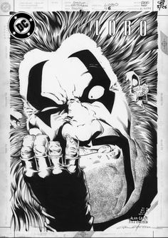 Lobo #46 Carl Critchlow cover art inks