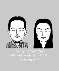 Alejandro Giraldo - Gomez and Morticia Addams, The Addams Family. Gomez And Morticia, Morticia Addams, Grunge Goth, Los Addams, Die Addams Family, Addams Family Tattoo, Sad Movies, Cult Movies, Indie Movies
