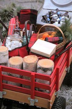 Love the Wagon...Outdoor Picnic in the Winter — Design*Sponge