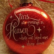 Stars are openings in Heaven where our loved ones have gone on.A great way to remember those that have already gone on.  Makes a great gift.   Comes with its own box for storage or gift giving.