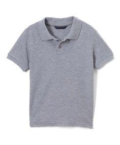Gray Polo - Infant Toddler & Boys