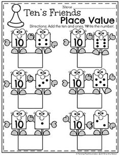 Place Value Worksheets – Planning Playtime Tens and Ones Place Value Worksheets for Kindergarten – So fun! Tens And Ones Worksheets, Place Value Worksheets, Kids Math Worksheets, Math For Kids, Fun Math, Maths, Math Fractions, Kindergarten Math Activities, Teaching Math