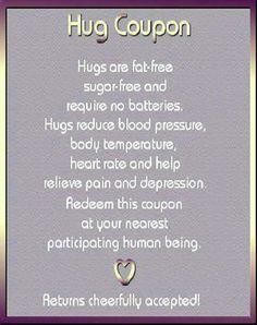 Hug coupon! Adorable!