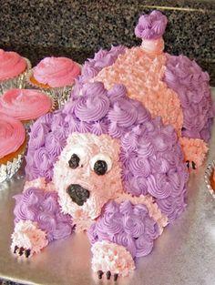Pink And Purple Poodle Cake cakepins.com