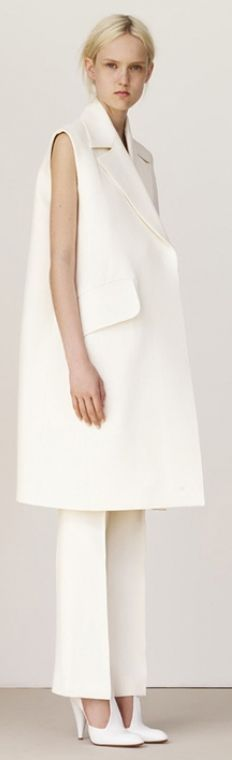White Chic Oversize Vest Coat