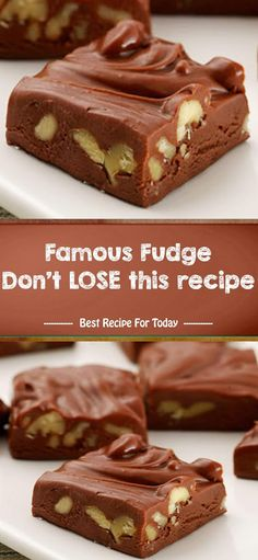 Famous Fudge Don't LOSE this recipe | Healthy Recipes