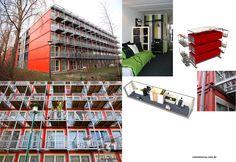 Container SA: Prédio para Estudantes em Container: Keetwonen, Amsterdam