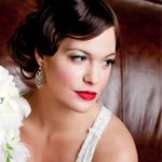 bride with red lips
