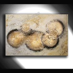 Acrylmalerei - JEAN SANDERS ---STRUKTURBILD--warme Farbtöne - ein Designerstück von JeanSanders bei DaWanda