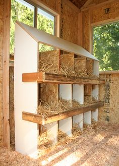 Nesting Box and the chicken coop and run they build is amazing!!!! Costco barn…
