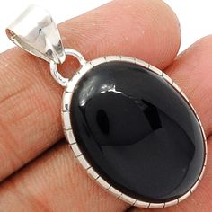 Black Onyx 925 Sterling Silver Pendant Jewelry BOXP892