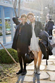 streetper:  2013F/W Seoul Fashion Week 6day . ModelLee Seonggyeong , Stephanie Lee