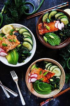 Grilled Fish Bowls w