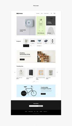 Redesign & rethinking of MUJI store Website Design Layout, Web Layout, Layout Design, Ecommerce Web Design, Wordpress Theme Design, Pag Web, Module Design, Concept Web, Web Design Quotes