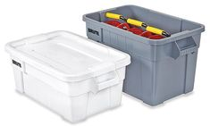 Uline stocks a wide selection of Brute® Totes. Over products in stock. 11 locations for fast delivery of Brute® Totes. Tote Storage, Storage Boxes, Plastic Box Storage, Totes, Dreams, Shopping, Storage Crates, Bags, Big Bags