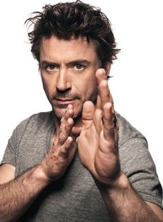 "Robert Downey Jr....should I put this on my ""Yummy"" board?  He would be the only non-food item on there.  :)"