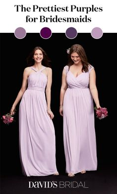 Looking for beautiful dresses for your bridesmaids? From plum to raspberry, iris to wisteria, purple bridesmaid dresses are trending. Whether you're looking for something subtle or want a bold, saturated hue, shop the perfect bridesmaid dresses for wedding party at David's Bridal.