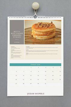 Vegan Recipe Calendar 2018  A collection of mouthwatering