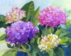 "Daily Paintworks - ""Hydrangea 1840"" by Libby Anderson"