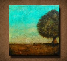 Beautiful Abstract Tree Painting  30 x 30  Very by BrittsFineArt, $310.00